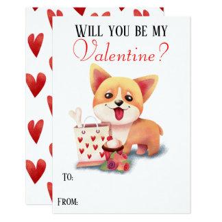 Cartão O filhote de cachorro bonito do Corgi seja meu