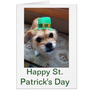 Cartão O filhote de cachorro de St Patrick