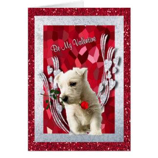Cartão O filhote de cachorro de Westie seja minha versão