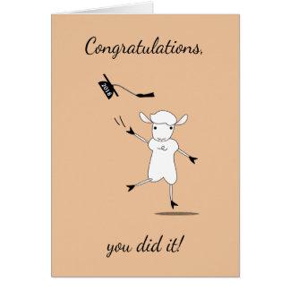 Cartão O formando 2018 dos parabéns você fê-lo!
