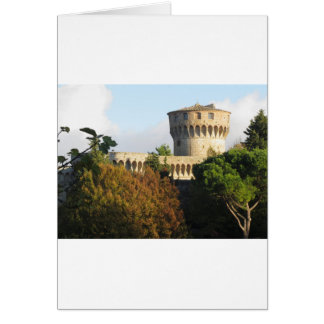 Cartão O Fortezza Medicea de Volterra, Toscânia, Italia