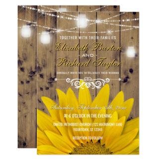 Cartão O frasco de pedreiro rústico do casamento do país