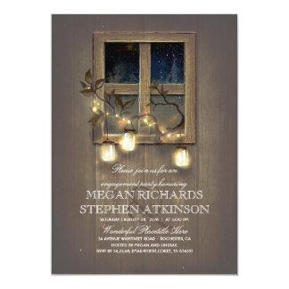 Cartão O frasco de pedreiro rústico ilumina a festa de