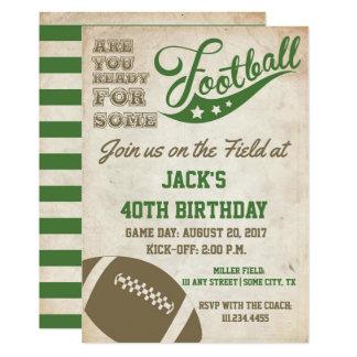 Cartão O futebol do vintage temático convida a velha