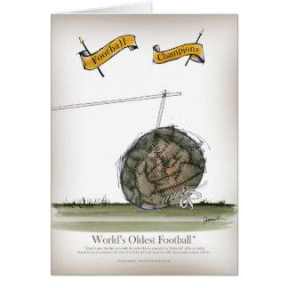 Cartão o futebol o mais velho do mundo
