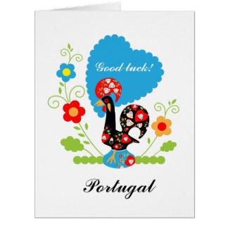 Cartão O galo português da sorte