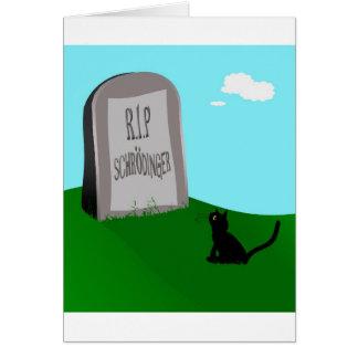 Cartão O gato 1 de Schrödinger - Schrödinger 0