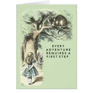 Cartão O gato de Cheshire