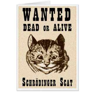 Cartão O gato de Shrodinger quis o poster