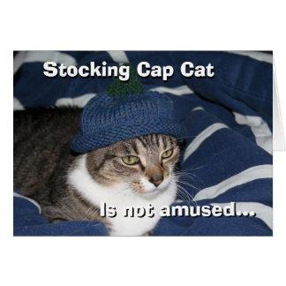 Cartão O gato do boné de meia não é divertido
