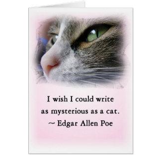Cartão O gato do ponto de entrada