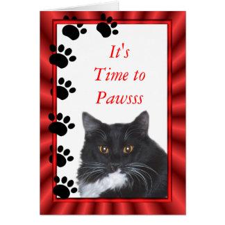 Cartão O gato engraçado Sylvester cartão-personaliza toda
