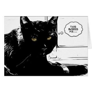 Cartão o gato preto é furado
