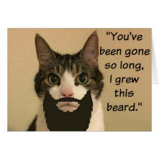 Cartão O gato que falta o carda