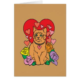 Cartão O gato tem lotes do amor