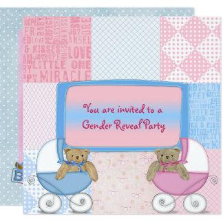 Cartão O género do bebê revela o partido