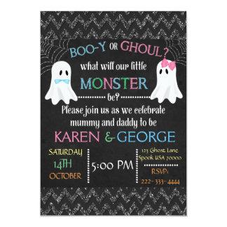 Cartão O género do Dia das Bruxas da Vaia-y ou do Ghoul