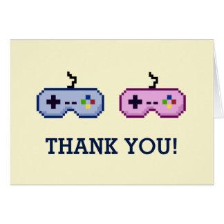 Cartão o género do Gamer 8bit revela o obrigado você