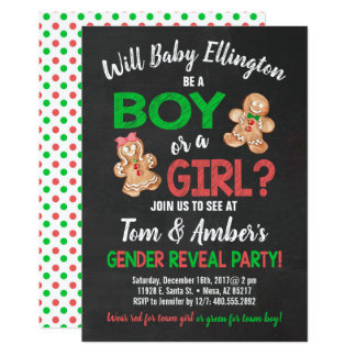 Cartão O género do menino ou da menina do pão-de-espécie