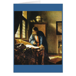 Cartão O geógrafo de Johannes Vermeer (cerca de 1669)