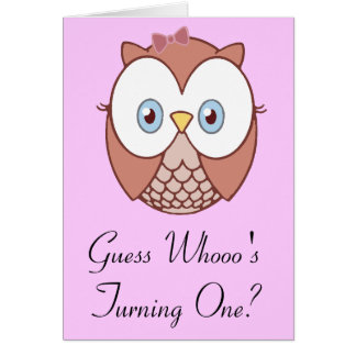 Cartão O giro de Whooo da suposição?