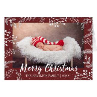 Cartão O giz nevado ramifica foto editável da cor