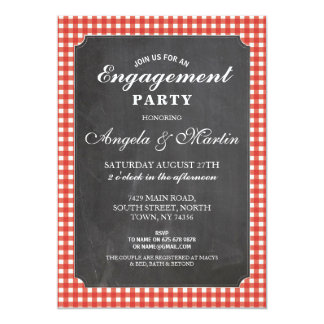 Cartão O giz vermelho da verificação da festa de noivado