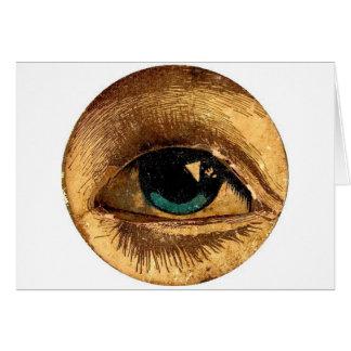 Cartão O globo ocular do olho do PeekABoo que olha o