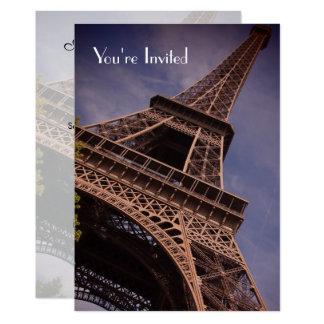 Cartão O gosto da torre Eiffel A do partido de comensal