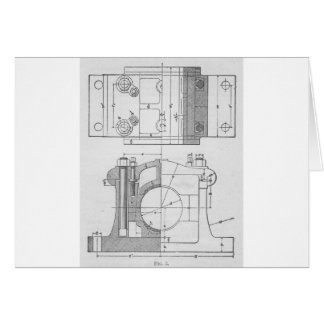 Cartão O gráfico do mecânico industrial do vintage
