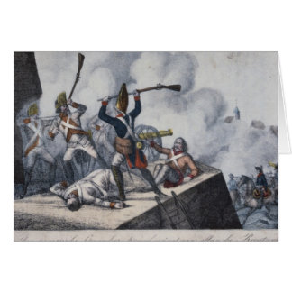 Cartão O granadeiro prussiano
