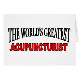 Cartão O grande Acupuncturist do mundo