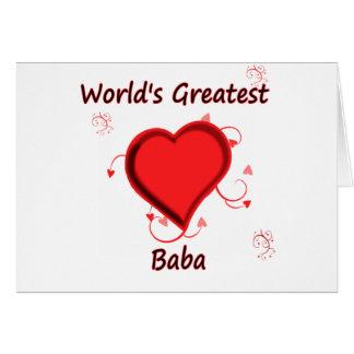 Cartão O grande babá do mundo