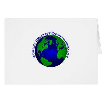 Cartão O grande ecologista do mundo
