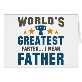 Cartão O grande Farter do mundo