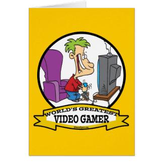 CARTÃO O GRANDE GAMER VIDEO DOS MUNDOS CAÇOA DESENHOS