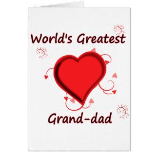 Cartão O grande grande-pai do mundo
