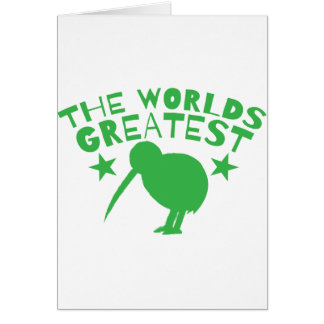 Cartão O GRANDE QUIVI do mundo (Nova Zelândia engraçada)