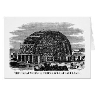Cartão O grande tabernáculo do Mormon em Salt Lake