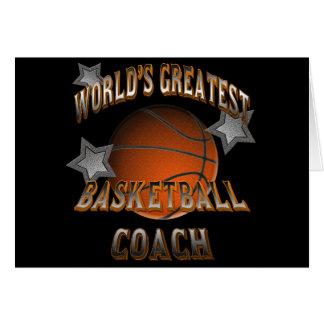 Cartão O grande treinador de beisebol do mundo