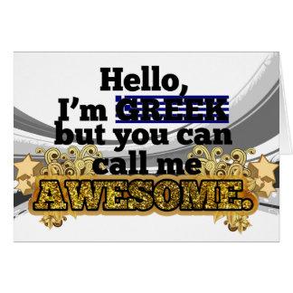 Cartão O grego, mas chama-me impressionante
