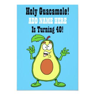 Cartão O Guacamole santamente alguém está girando o
