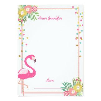 Cartão O guestbook do aniversário do flamingo carda a