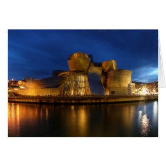 Cartão O Guggenheim - a Bilbao, espanha