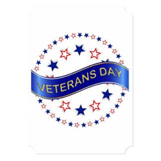 Cartão O halo do partido do dia de veteranos das estrelas