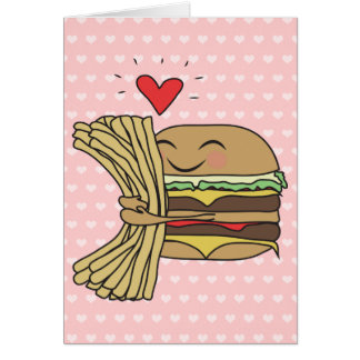 Cartão O hamburguer ama fritadas