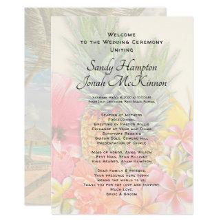 Cartão O Hawaiian floresce o programa curto da cerimónia