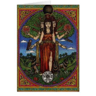 Cartão o hecate da deusa (imagem e synbols) 001 t,