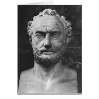Cartão O Herm de um homem, disse ser Thucydides