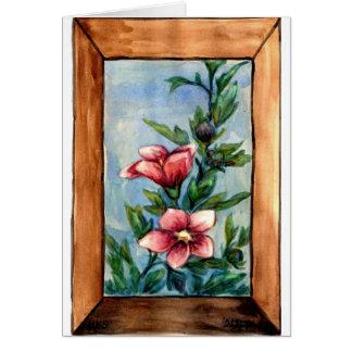 Cartão o hibiscus aumentou